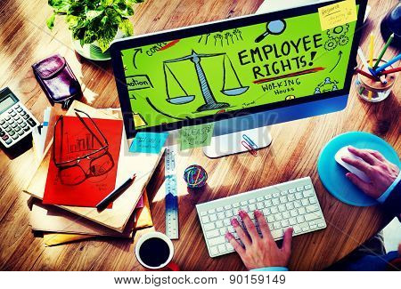 Employee Rights Working Benefits Skill Career Compensation Concept