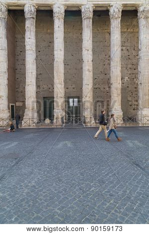 Temple Of Hadrian In Rome