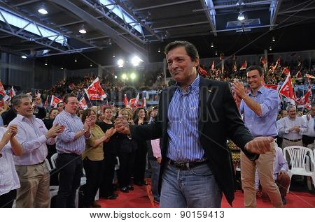 Rally Of The Spanish Socialist Workers' Party (psoe) In Gijon