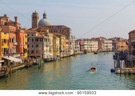 Buildings Along The Grand Canal In Venice