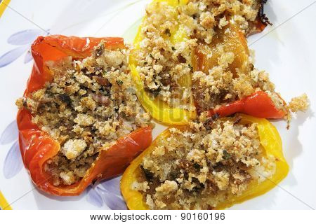 Stuffed Colored Bell Peppers
