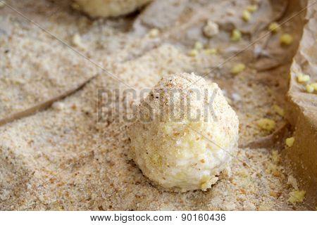Preparing Of Sicilian Arancini