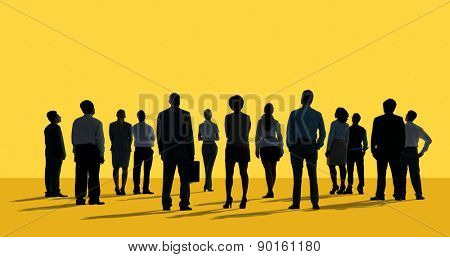 Corporate Business Team Aspiration Looking up  Concept