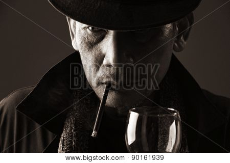 Smoker Elderly Gentleman