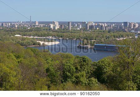 Beautiful View Of Kiev River Dniproukraine Photo