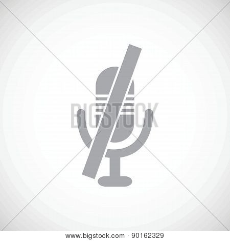 Muted microphone icon