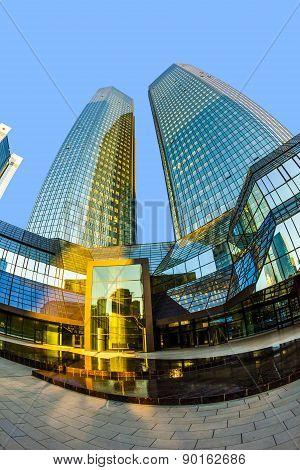 Perspective Of  Twin Towers Deutsche Bank I And Ii
