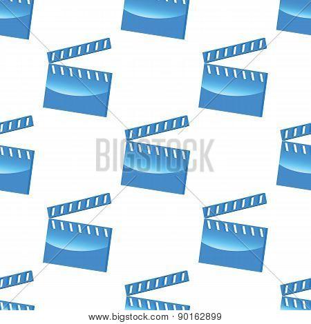 Blue clapperboard pattern