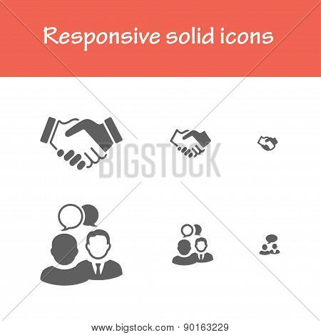 Responsive Solid Meeting Icons