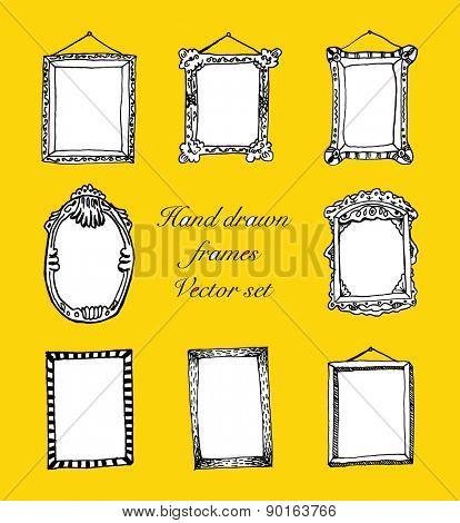 hand drawn frames vector illustration