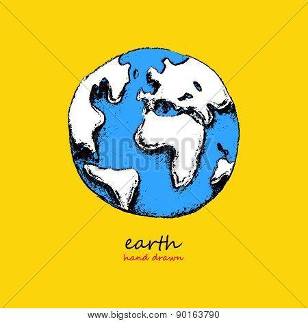 Earth. Hand drawn vector illustration