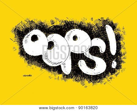 Comic speech humor funny cartoon bubble sketch design background vector illustration