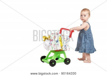 Little Girl With A Trolley
