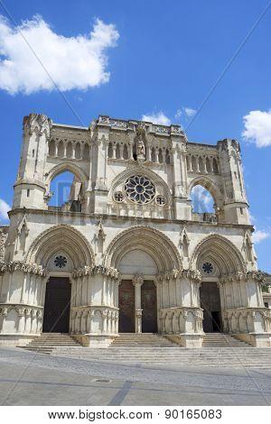 Exterior View of the Cathedral of Cuenca, Castilla La Mancha, Spain.