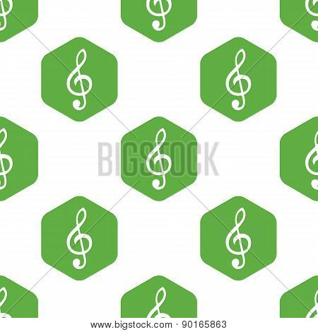 Treble clef pattern