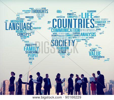 Countries Diversity Diverse People Community Communication Concept