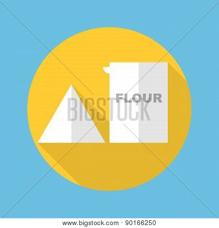 flour box icon vector illustration