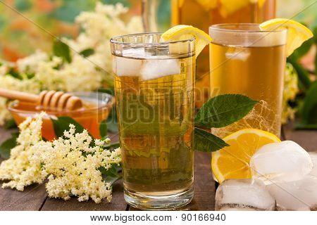 Homemade summer drink of elderflower