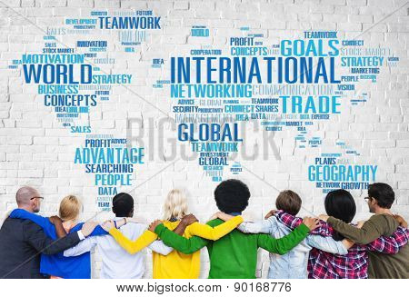 International World Global Network Globalization International Concept