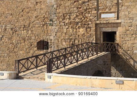 Bridge To The Old Fortress. Paphos Cyprus