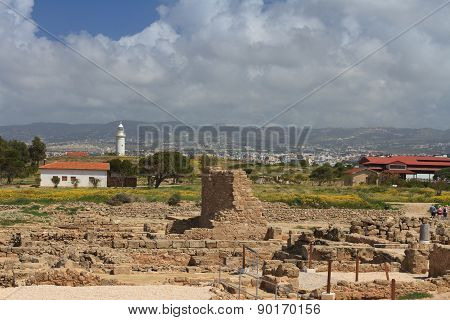 View Of The Archaeological Park Of Paphos In Cyprus