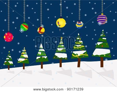 Vector Christmas Holiday Festival Best Wishes Balloon Concept