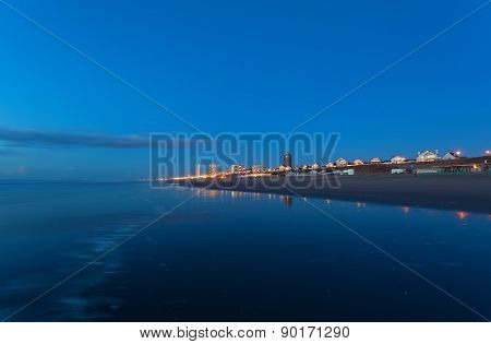 Zandvoort City By North Sea Coast Bu Night