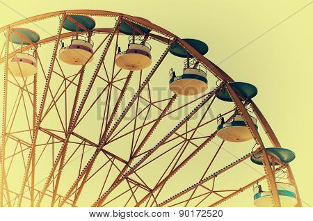 wheel in the amusement park