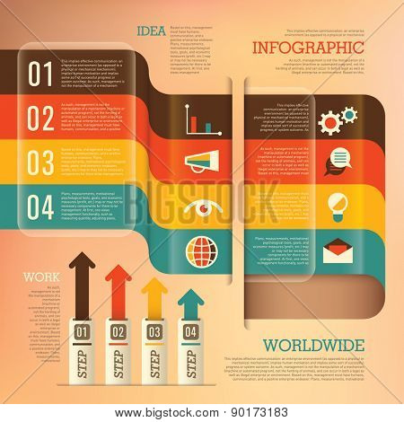 Business info graphics. Vector illustration.