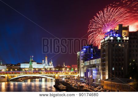Victory Day Fireworks, Moscow, Russia