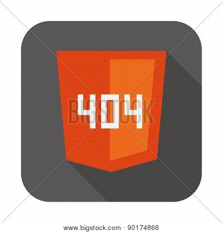 vector collection of web development shield sign with 404 error not found isolated icon