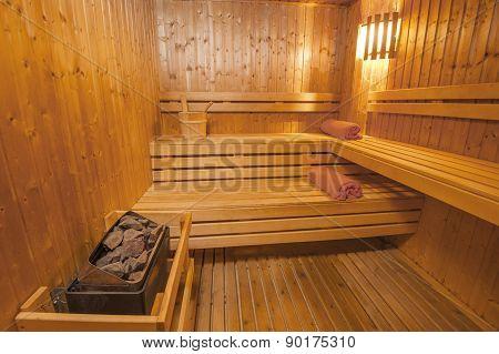 Sauna In A Health Spa