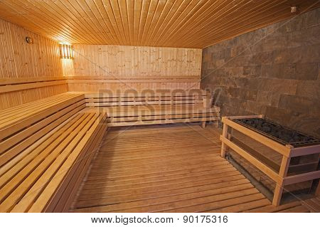 Sauna In A Health Spa