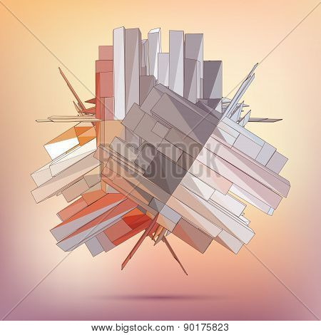 Vector 3D business illustration.