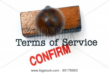 Terms Of Service - Confirm