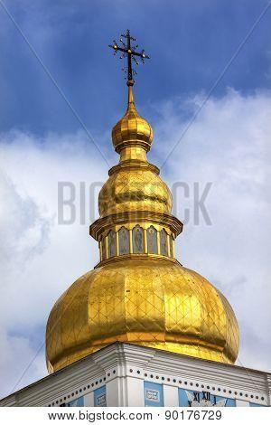 Saint Michael Cathedral Spire Kiev Ukraine