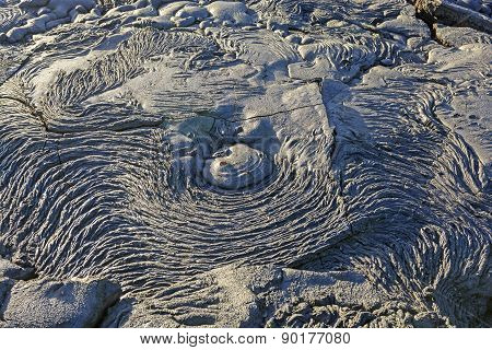 Unique Lava Patterns On A Volcanic Island