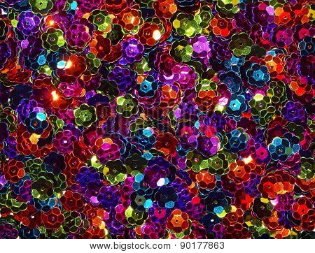 Colorful Sequin Background