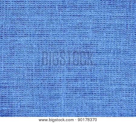 Cornflower blue color burlap texture background