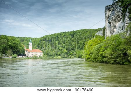 An image of the beautiful monastery Weltenburg in Bavaria Germany