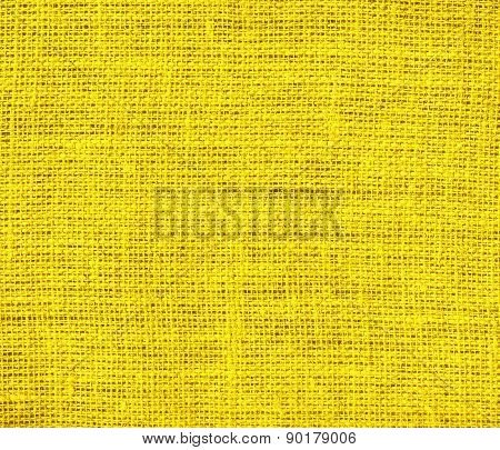 Cyber yellow color burlap texture background
