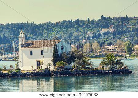 monastery on  Corfu island, Greece