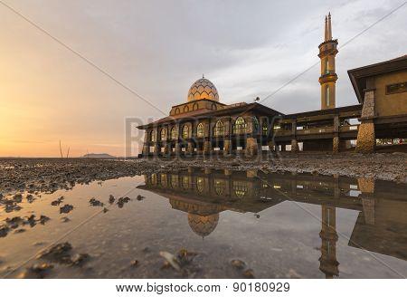 Masjid Al Hussain In Kuala Perlis City, Malaysia
