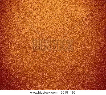 Cadmium orange color leather texture background