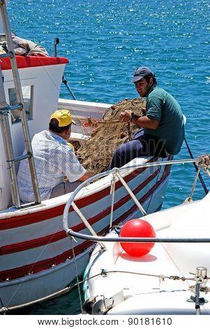 Fishermen on boat, Garrucha.