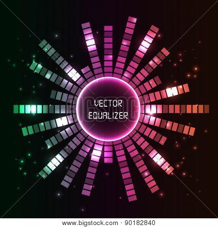 Circlel Vector Equalizer Background.