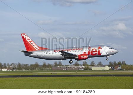 Amsterdam Airport Schiphol - Boeing 737 Of Jet2 Lands