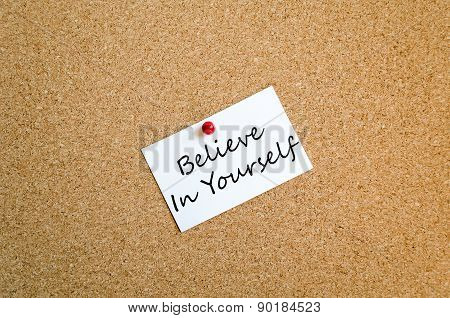 Believe In Yourself Concept