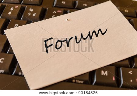 Forum Concept On Keyboard