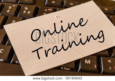 Online Training Concept On Keyboard